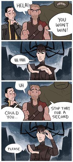 Thor: Ragnarok || Needs more eyeshadow