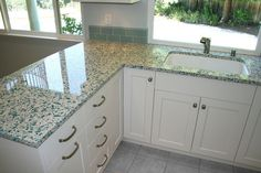 Kitchen Recycled Glass Countertop