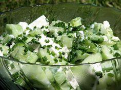 Sałatka z serem Feta do potraw z grilla - zdjęcie 2 Feta, Lettuce, Potato Salad, Grilling, Food And Drink, Potatoes, Cheese, Vegetables, Cooking