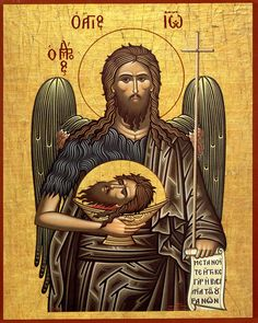Saint John the Baptist Orthodox Church Catholic Saints, Patron Saints, Religious Icons, Religious Art, Jewish Art, Holy Art, Byzantine Art, John The Baptist, Orthodox Icons