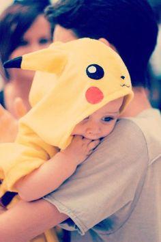 I would dress my babies as a pikachu
