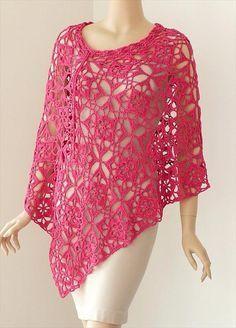 Crochet Poncho Pattern – Gorgeous Square Motif- 24 Adorable Summer Poncho Free Crochet Design   DIY to Make