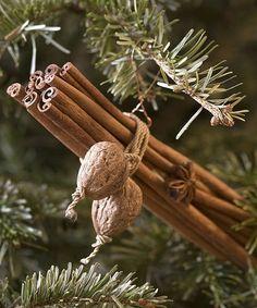 Adornos de navidad canela