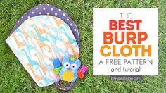 Free Burp Cloth Pattern - with Tutorial! - Bite Sized Biggie