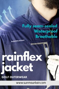 RainFlex is the players' choice when playing in variable conditions and quiet, stretch, comfort and breathability are critical. Two-year waterproof guarantee. Comes in 3 colors! Mens Golf Jackets, Golf Apparel, Golf Pants, Golf Fashion, Golf Outfit, Ladies Golf, Need To Know, Gift Ideas, Colors