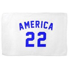 #America 22 Birthday Designs Hand Towels - #giftidea #gift #present #idea #number #22 #twenty-two #twentytwo #twentysecond #bday #birthday #22ndbirthday #party #anniversary #22nd