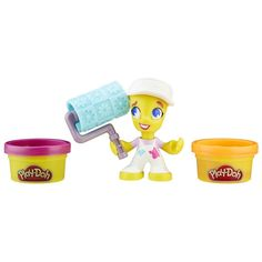Play-Doh Town Painter Includes figure with hat, roller, and 2 cans of Play-Doh Brand Modeling Compound.