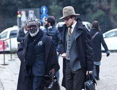 dapper, baby! Street Style: Pitti Uomo Fall/Winter 2013 - Best Street Style Men - Esquire