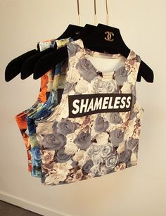 Shameless Cropped Top Shirt (3 colors available)