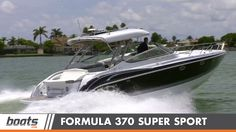 Take a ride on the Formula boats 370 Super Sport with the boats.com video boat review team.