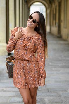 Nameless fashion blog: Abitini anche in un autunno: come indossarli  #fall #dress #outfit #mismash