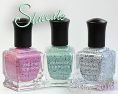 Deborah Lippmann Stacatto speckled nail polish collection for spring 2013. these are really cute, but $$$.