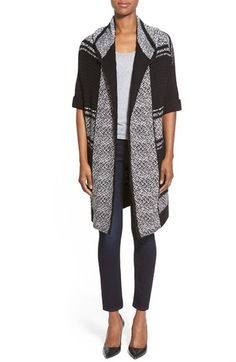 DEX Short Sleeve Hooded Open Front Cardigan available at #Nordstrom