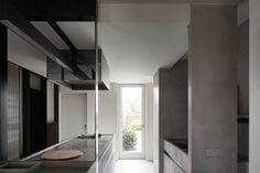 The H Ardooie project by Frederic Kielemoes is an elegant realisation of minimalist Belgian style, true to the designer's approach and client's brief. French Interior, Luxury Interior, Interior And Exterior, Minimalist Kitchen, Minimalist Decor, Apartment Interior Design, Interior Design Kitchen, Rosedale House, Dark Wood Dining Table