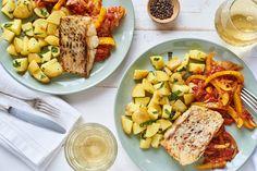 Krosser Seelachs mit Salbei-Kartoffeln und Gemüse-Sugo | Marley Spoon