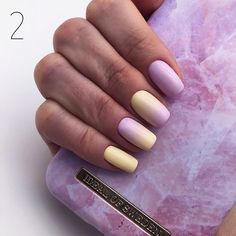 45 Light Purple Nails Designs You Must Try In 2020 · Best Acrylic Nails, Summer Acrylic Nails, Pastel Nails, Yellow Nails, Pastel Yellow, Purple Nails With Glitter, Glitter Nails, Light Purple Nails, Violet Nails