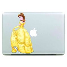 Belle Macbook Decal Macbook Stickers Macbook Decals by ruproair, $8.99... ❤ liked on Polyvore featuring accessories and disney Macbook Decal Stickers, Laptop Decal, Decals, Macbook Air Cover, Disney Characters, Fictional Characters, Aurora Sleeping Beauty, Disney Princess, Accessories