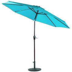 Sundale Outdoor 10 Feet Outdoor Aluminum Patio Umbrella with Auto Tilt and Crank, 8 Alu. Outdoor Umbrella, Aluminum Patio, Rye, Tilt, Turquoise, Outdoor Decor, Home Decor, Decoration Home, Room Decor
