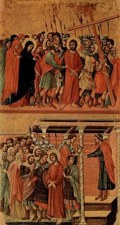 Camino del Calvario y Pilatos lavándose las manos