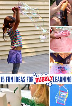 15 Captivating Bubble Activities for Kids - No Time For Flash Cards Bubble Activities, Pre K Activities, Hands On Activities, Kindergarten Activities, Infant Activities, Summer Activities, Preschool Activities, Preschool Classroom, Outdoor Activities