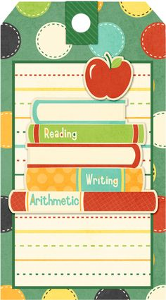 Printable School Books Freebie
