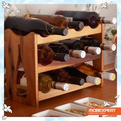 Suport 12 sticle Rustique. Încurajează-i pasiunile și oferă-i suportul tău. Cea mai bună dovadă de iubire.  #mobexpert #dragobete #cadou Wine Rack, Bar, Dining, Storage, Furniture, Home Decor, Purse Storage, Food, Decoration Home