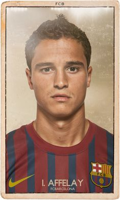 FC BARCELONA VINTAGE FOOTBALL CARDS by DIVER AND AGUILAR (via Behance)