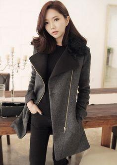 Korean Fashion Hot Selling Woolen Wind Coat