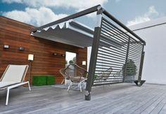 Aluminium Pergola with Sliding Cover Pergotenda® MOVE - CORRADI