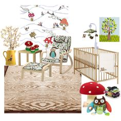 """Woodland Nursery Decor"" by evin on Polyvore"