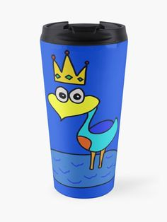King Paulo Bird is a male cartoon character who is apart of the Paulus Bird Series. He is the father of Paulus Bird. | Design By Paul Corps | Pultzar.redbubble.com