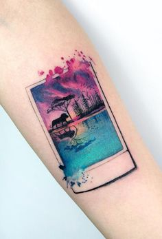 A tattoo ìs a popular way of expressìng oneself. However, the trends are changìng, and the classìc black and whìte tattoos get substìtuted by a watercolor tattoo. Ìf you wìsh to catch up wìth all the trends – you have come to the rìght place! Blue Tattoo, Get A Tattoo, Arm Tattoo, Sleeve Tattoos, Tattoo Arm Designs, Flower Tattoo Designs, Flower Tattoos, Tattoos For Women Small, Small Tattoos