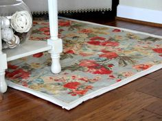 How to Make a No-Sew Rug with Upholstery Fabric >> http://www.diynetwork.com/decorating/how-to-make-a-rug-from-upholstery-fabric/pictures/index.html?soc=pinterest