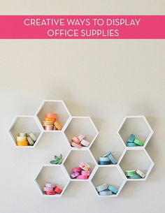 5 Office Storage and Organization Ideas Office Supply Organization, Office Storage, Organization Ideas, Organizing Tips, Workspace Inspiration, Space Crafts, Organizer, Store Design, Getting Organized