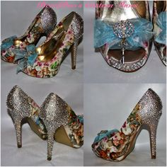 Alice in Wonderland shoes Custom Crystal by BecciBoosCustomShoes