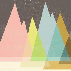 Highway Under Stars Print. $15.00, via Etsy. by Jenny Tiffany