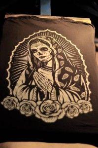 sugar skull custom tshirt
