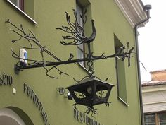 metal work above doorway. Kaunas, Lithuania