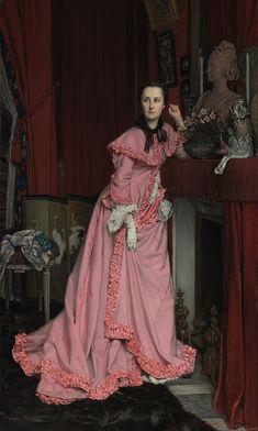 Jacques Joseph Tissot (French - Portrait of the Marquise de Miramon, née, Thérèse Feuillant