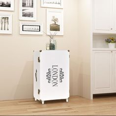 Shabby Chic White Side Table Hallway Furniture Telephone Buffet 3 Racks Storage for sale Hallway Furniture, Cabinet Furniture, Table Furniture, Vintage Furniture, White Drawers, Wood Drawers, Buffet Pas Cher, Console Extensible, White Side Tables