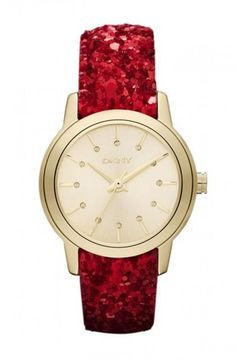 DKNY Red Sparkle Strap Watch  ♥ Christmas Gift Ideas