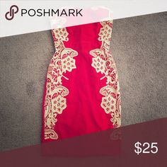 Brand new red strapless dress Brand new red strapless dress ModCloth Dresses Midi