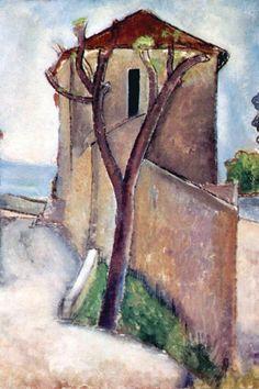 Tree and House Amedeo Modigliani More