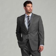 MICHAEL Michael Kors Men's Grey Sharkskin Suit | Overstock.com