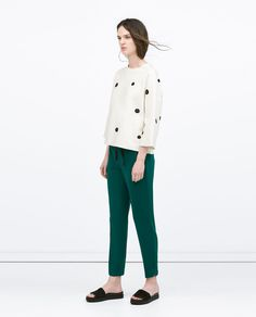 ZARA - SALE - LOOSE TROUSERS WITH GROSGRAIN RIBBON