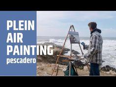 PLEIN AIR oil painting PESCADERO seascape - YouTube
