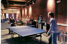 Ping pong and knee hockey. Why aren't you working here?
