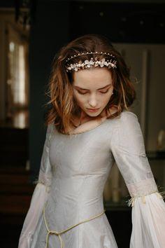 Wedding crown, hair accessory, bridal tiara -Bellatrix no. Headpiece Wedding, Bridal Headpieces, Gold Bridal Crowns, Wedding Crowns, Princess Aesthetic, Vintage Bridal, Wedding Hairstyles, Hair Accessories, Wedding Accessories
