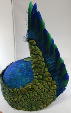 vintage Jack McConnell Peacock Feather Hat from crossroadsantiques on Ruby Lane