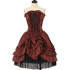 Bustle corset Dress  ATELIER-PIERROT  https://www.wunderwelt.jp/en/products/w-26347    Worldwide shipping available ♪   How to order ↓  https://www.wunderwelt.jp/en/shopping_guide  * Japanese online shop for second-hand Lolita Fashion *Wunderwelt *